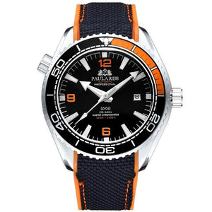 PLR™ Men's Classic Sport Watch Casual Watches PMax™ White Orange Black