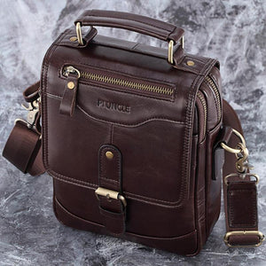 PLX™ Men's Leather Crossbody Messenger Satchel Shoulder Tablet Bag bags PLX™ Fashion