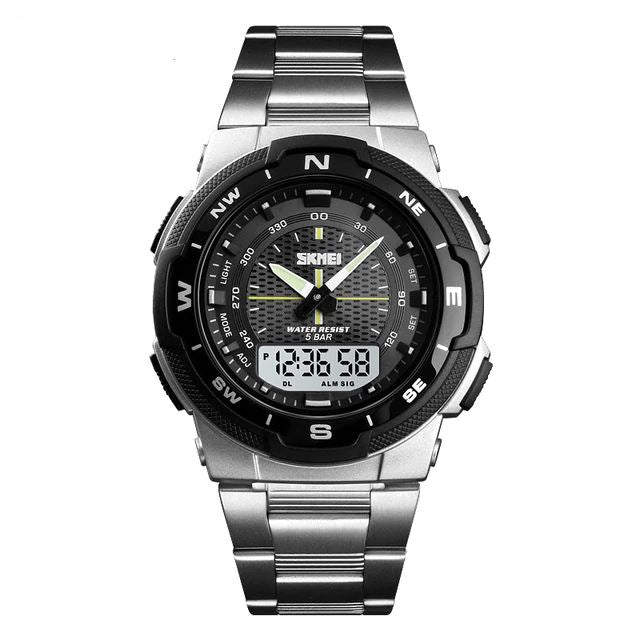 SMax™ Men's Business Sport Quartz Wrist Watch Digital Watches SMax™ Fashion Silver