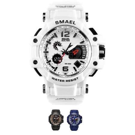 SMAX™ Men's Casual Sport Quartz LED Digital Waterproof Wrist Watch 1C casual watch SMAX™ Fashion