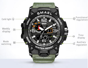 SMAX™ Men's Military Sport Quartz LED Digital Waterproof Wrist Watch 1A military watch SMAX™ Fashion