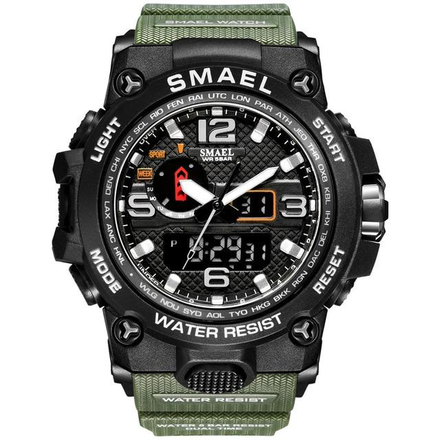 SMAX™ Men's Military Sport Quartz LED Digital Waterproof Wrist Watch 1A military watch SMAX™ Fashion Army Green