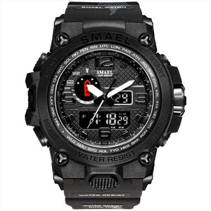 SMAX™ Men's Military Sport Quartz LED Digital Waterproof Wrist Watch 1A military watch SMAX™ Fashion Black