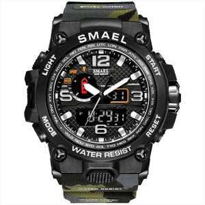 SMAX™ Men's Military Sport Quartz LED Digital Waterproof Wrist Watch 1A military watch SMAX™ Fashion Camo Army Green