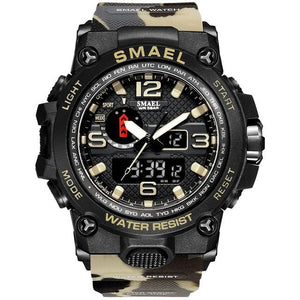 SMAX™ Men's Military Sport Quartz LED Digital Waterproof Wrist Watch 1A military watch SMAX™ Fashion Camo Kahki