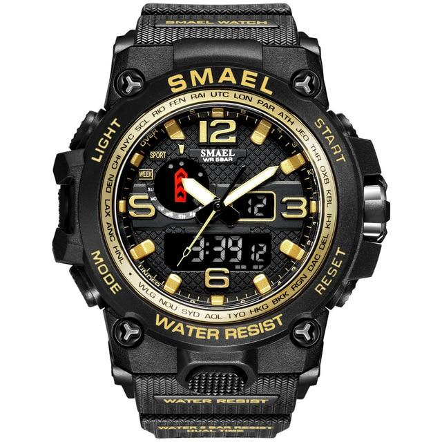SMAX™ Men's Military Sport Quartz LED Digital Waterproof Wrist Watch 1A military watch SMAX™ Fashion Gold