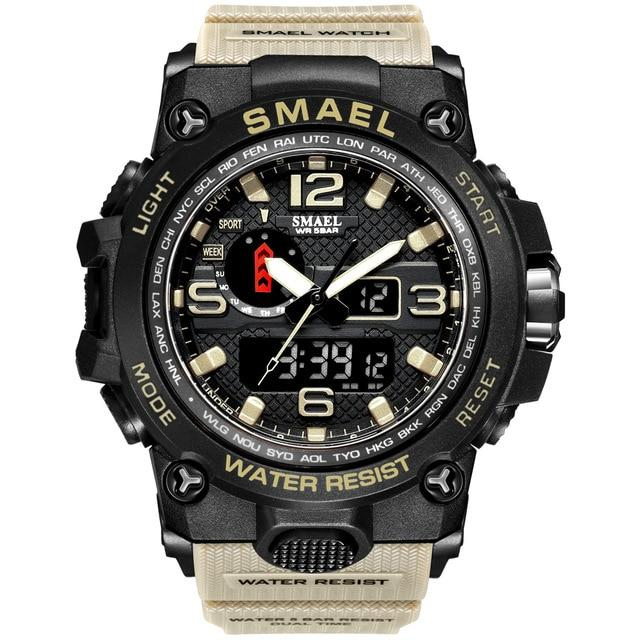 SMAX™ Men's Military Sport Quartz LED Digital Waterproof Wrist Watch 1A military watch SMAX™ Fashion Kahki