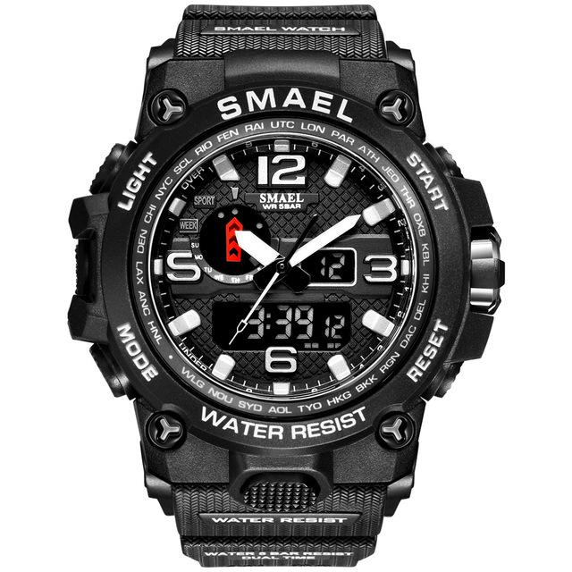 SMAX™ Men's Military Sport Quartz LED Digital Waterproof Wrist Watch 1A military watch SMAX™ Fashion Sliver
