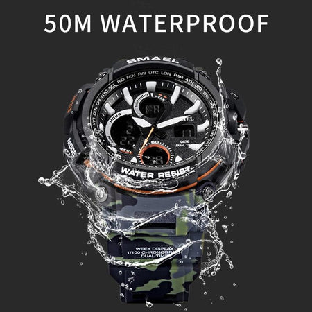SMAX™ Men's Military Sport Quartz LED Digital Waterproof Wrist Watch 1B military watch SMAX™ Fashion