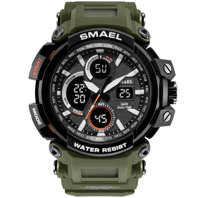 SMAX™ Men's Military Sport Quartz LED Digital Waterproof Wrist Watch 1B military watch SMAX™ Fashion Army Green