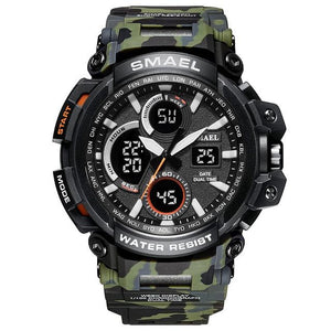 SMAX™ Men's Military Sport Quartz LED Digital Waterproof Wrist Watch 1B military watch SMAX™ Fashion Camo Army Green