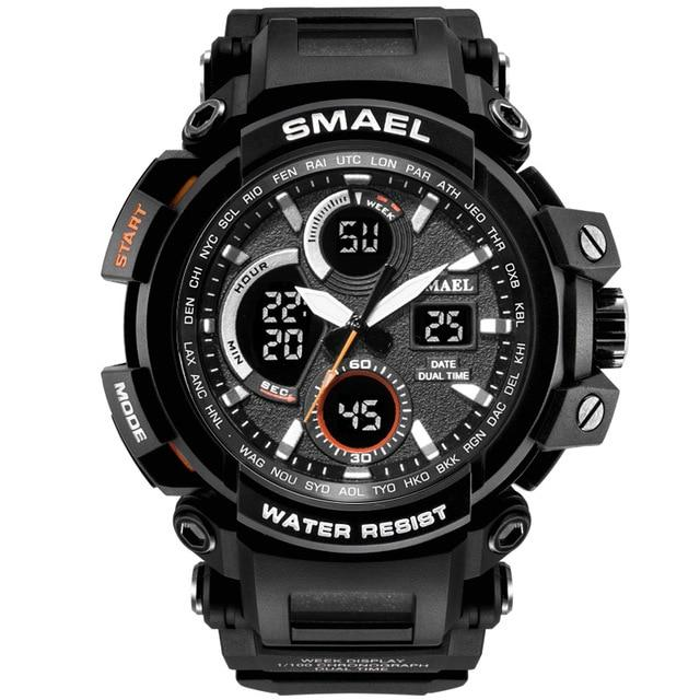 SMAX™ Men's Military Sport Quartz LED Digital Waterproof Wrist Watch 1B military watch SMAX™ Fashion Silver