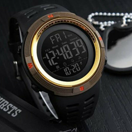 SMAXElite™ Men's Military Sport LED Digital Waterproof Wrist Watch 1D military watch SMAXElite™ Fashion Black_Gold