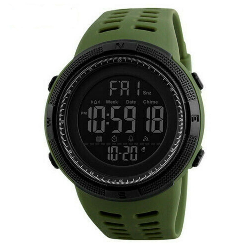 SMAXElite™ Men's Military Sport LED Digital Waterproof Wrist Watch 1D military watch SMAXElite™ Fashion Black_Army_Green