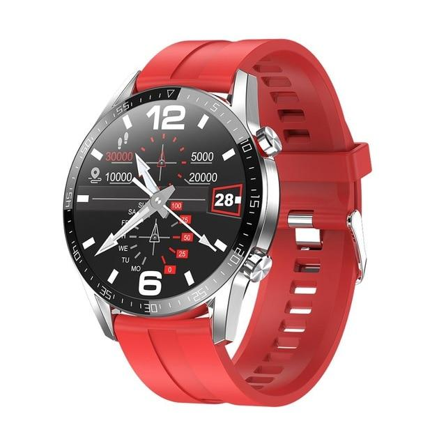 SMAXPLUS™ EDGE Men's SMARTWATCH Call/Text, Fitness & Health Tracker, Heart Rate Monitor, Bluetooth (Android/IOS) smartwatch SMAXPlus™ Edge red