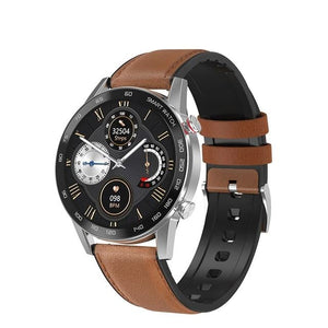 SMAXPLUS™ Men's SMARTWATCH Call/Text, Fitness Sleep Tracker, Heart Rate Monitor, Bluetooth (Android/IOS) smartwatch SMAXPlus™ Brown-Leather Strap