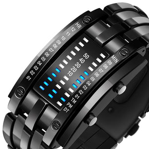 SMAXPro™ Futuristic Digital Fashion Sport Wrist Watch (Highly Creative) Watch EliteDealsOutlet Black Small