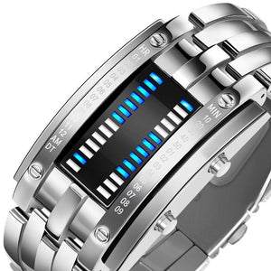 SMAXPro™ Futuristic Digital Fashion Sport Wrist Watch (Highly Creative) Watch EliteDealsOutlet Silver Large