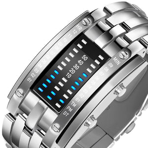 SMAXPro™ Futuristic Digital Fashion Sport Wrist Watch (Highly Creative) Watch EliteDealsOutlet Silver Small
