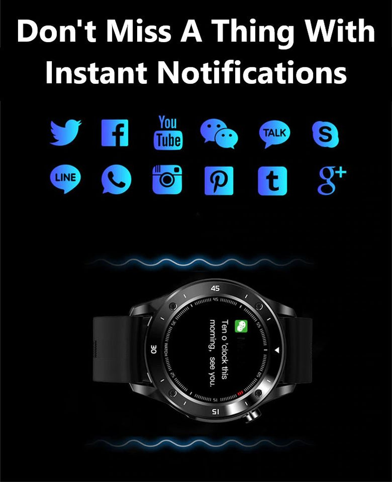 SMAXPRO™ LIVE Men's SMARTWATCH Fitness Sleep Tracker, Heart Rate Monitor, Bluetooth (Android/IOS) Smart Watches SMAXPRO™ LIVE