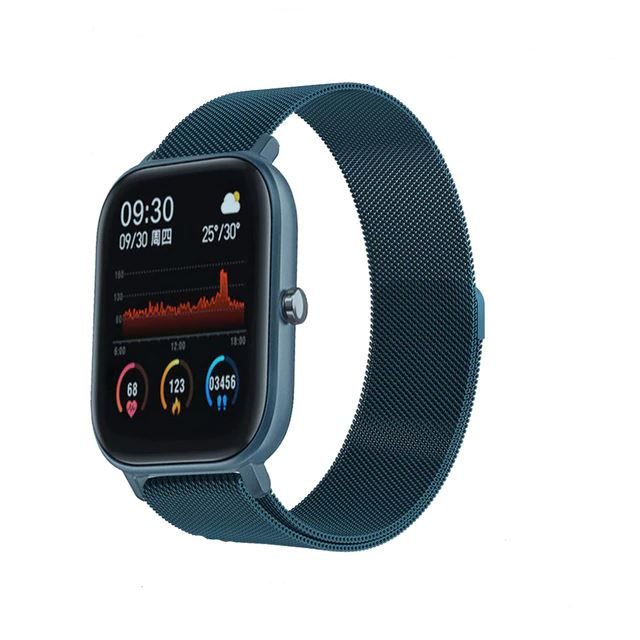 SMaxPro2™ SMART Color Touch Heart Rate Activity Tracking IOS/Android Smartwatch Smart Watches SMaxPro2™ Fashion Metal Blue