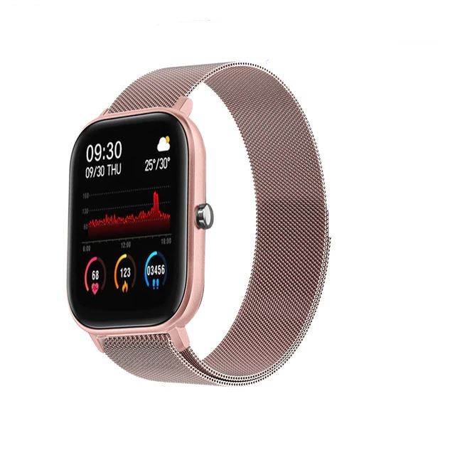 SMaxPro2™ SMART Color Touch Heart Rate Activity Tracking IOS/Android Smartwatch Smart Watches SMaxPro2™ Fashion Metal Rose Gold