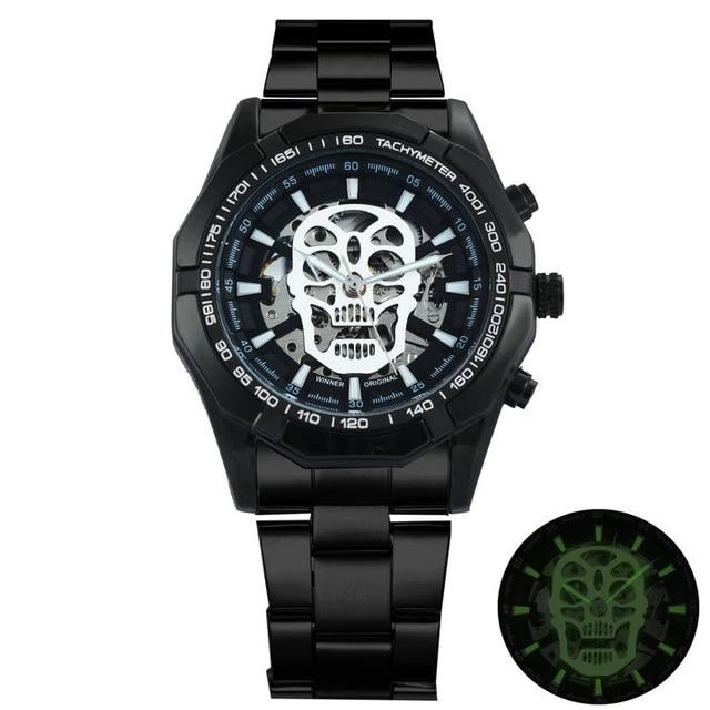 TWN™ Men's Skull Skeleton Stainless Steel Watch Specialty Watch TWN™ Fashion Skull Black White