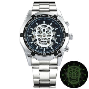 TWN™ Men's Skull Skeleton Stainless Steel Watch Specialty Watch TWN™ Fashion Skull Silver Black