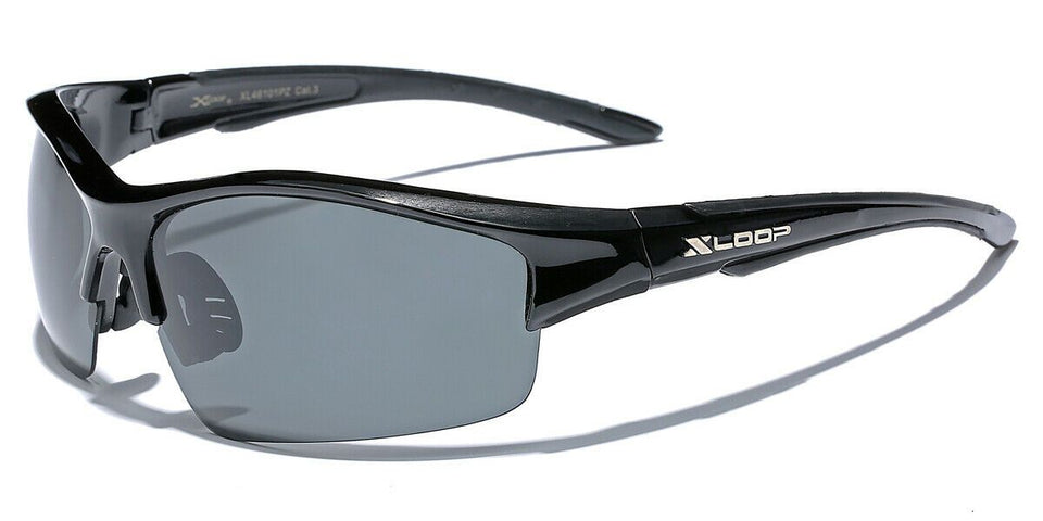 XLow™ Men's Sports Polarized Sunglasses sunglasses XLow™ Fashions Black