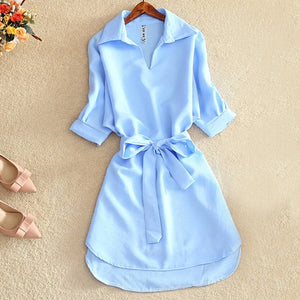 Summer Casual Long Shirt Blouse Women