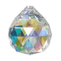 Set of 90 - Clear AB Crystal Ball Prisms  #701 - 30 mm