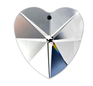 1 Piece - Asfour 30% Lead Clear Crystal Heart #870-28 mm