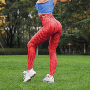 Peach Lust Cross-Strap Anti-Cellulite Fitness Leggings
