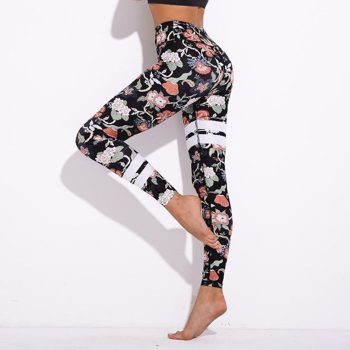 Designer Floral Push Up Leggings
