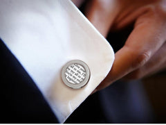 Cufflinks with Vows or Song