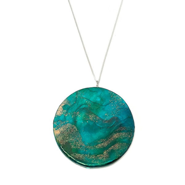 1st anniversary gift for her - neptune paper necklace