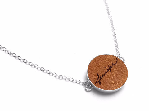 Leather Name Necklace