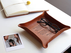 Custom Leather Tray