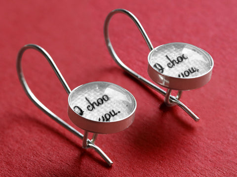 Personalized Linen Earrings