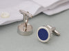 4th anniversary linen cufflinks