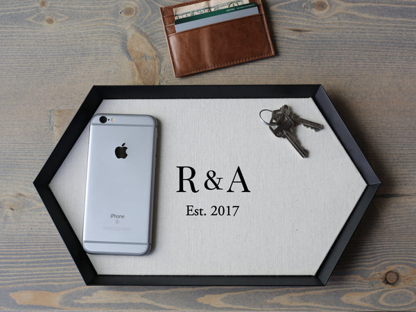 Cotton Wedding Anniversary Gifts For Men: The Brooklyn- Personalized Cotton Trays