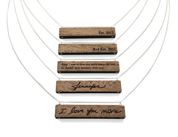 Engraved Names Necklace