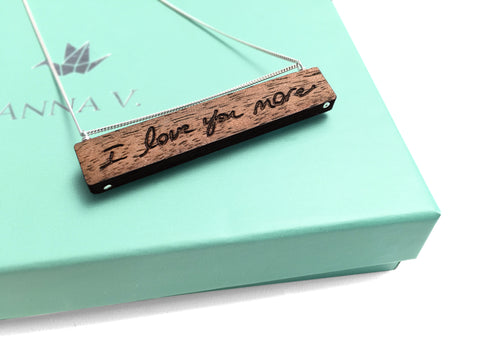 Engraved Handwriting Necklace