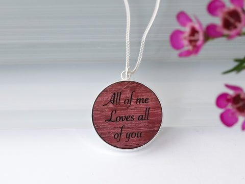 Purple Heart Wood Necklace