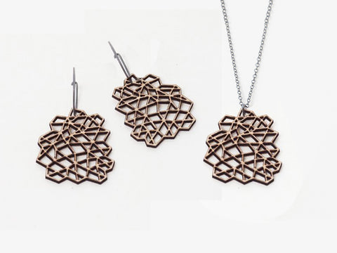 Geometric Wood Jewelry