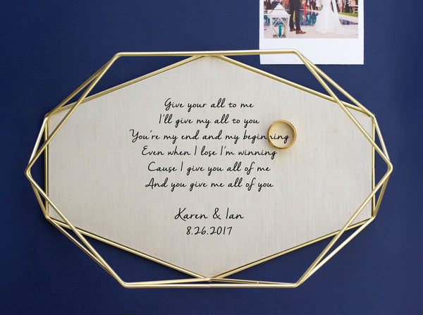 personalized cotton brass tray