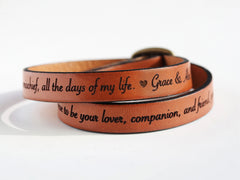 Custom Leather Wrap Bracelet