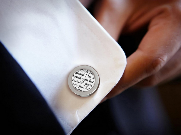custom cotton anniversary cufflinks