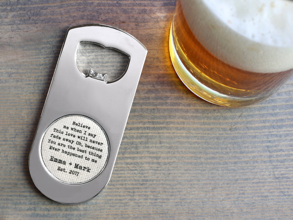 Custom Linen Bottle Opener