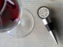 Personalized Cotton Wine Stopper